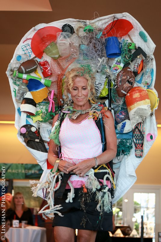 Nancy Dudley|Venus on the Half Shell of Plastic Bag Beach Debris